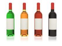 Set bottles of wine Royalty Free Stock Image