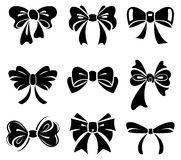 Set of bow vector illustration
