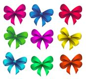 Set bow. Set of gift bows of different colors Stock Image