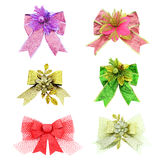 Set of bow christmas and new year collection. Stock Image