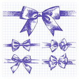 Set of bow Royalty Free Stock Image