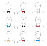 Set bow tie Stock Photo