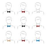 Set bow tie Stock Photo