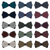 Set of bow tie in  on white background Stock Photo