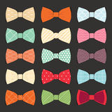 Set of bow tie in  on white background Stock Photos