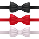 Set of bow ties isolated on white background. Stock Photos
