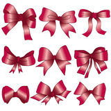 Set 9 bow - vector Royalty Free Stock Image