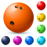 Set of bowling balls Stock Photography