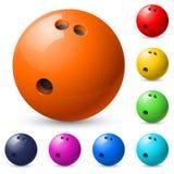 Set of bowling balls. Illustration on white background Stock Photography