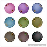 Set of Bowling Balls on White Background Stock Photography