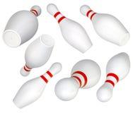 Set of Bowling Pin Royalty Free Stock Photography