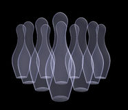 Set of bowling pins Stock Photo