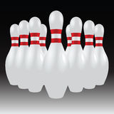 Set of bowling pins Stock Photos
