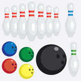 Set of bowling tools. Stock Image