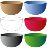 Set of Bowls. In various Colors Stock Photography