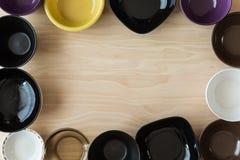 Set of bowls Royalty Free Stock Photos