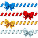 Set from bows Stock Photos