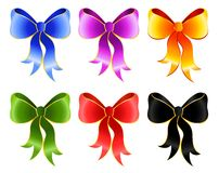 Set of  bows Royalty Free Stock Photos