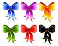 Set of  bows Royalty Free Stock Photos