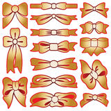 Set of bows Stock Photography