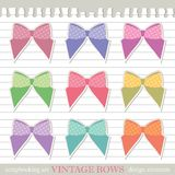 Set of bows Stock Photo