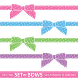 Set of bows stock illustration