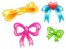Set of bows Stock Photos