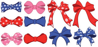 Set of bows cartoon Royalty Free Stock Photo