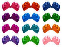 Set of bows. Royalty Free Stock Photos