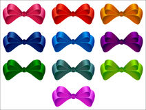 Set of bows. Royalty Free Stock Photography