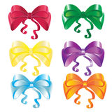Set of bows in different colors Stock Photo