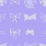 Set of bows, hand drawn Royalty Free Stock Photography