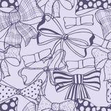 Set of bows, hand drawn Stock Photos