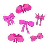 Set of bows isolated in vector Royalty Free Stock Photography