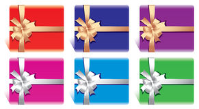 Set of bows with ribbons Stock Photography