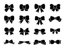 Set of Bows, ribbons Royalty Free Stock Photo