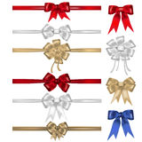 Set of bows and ribbons Royalty Free Stock Images