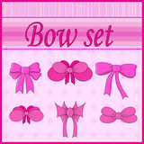 Set of bows  in vector Stock Image