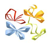 Set of bows for your design. Vector illustration Stock Photography