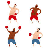 Set of boxers Royalty Free Stock Photos