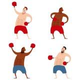 Set of boxers Royalty Free Stock Photos