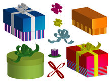 Set boxes Royalty Free Stock Photos