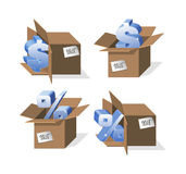 Set of Boxes Stock Image