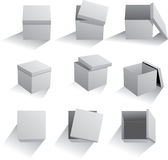Set of boxes Royalty Free Stock Images