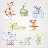 Set boxes Royalty Free Stock Image