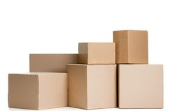 Set of boxes Stock Photos