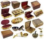 Set with boxes Stock Images