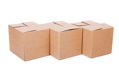 Set of boxes Royalty Free Stock Photos