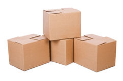 Set of boxes Royalty Free Stock Photography