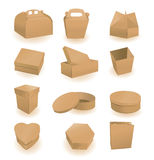 Set of boxes and packages Royalty Free Stock Images